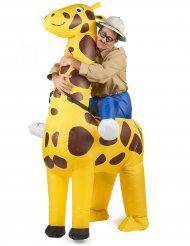 Disfraz jirafa inflable adulto