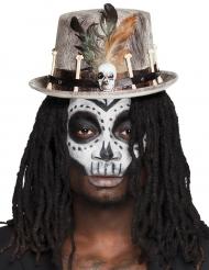 Sombrero de copa vudú gris adulto