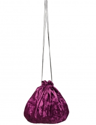 Bolso terciopelo violeta 27 cm