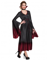 Disfraz vampiro negro y rojo mujer Halloween