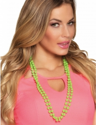 2 Collares perlas verdes adulto