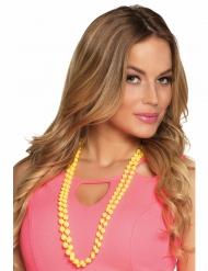 2 Collares perlas amarillas adulto