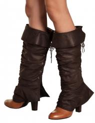 Cubre botas medievales marrón mujer