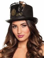 Sombrero alto ruedas adulto Steampunk