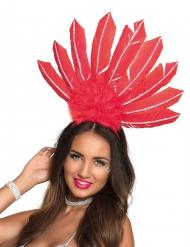Cofia brasileña rojo mujer