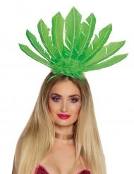 Cofia brasileña verde mujer