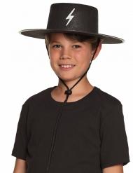 Sombrero justiciero enmascarado niño