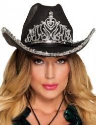 Sombrero princesa cowboy negro mujer