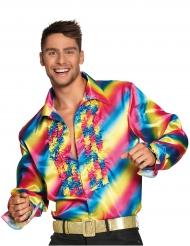 Camisa disco arcoíris adulto