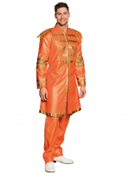 Disfraz pop naranja adulto