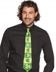 Corbata rayada tréboles adulto San Patricio