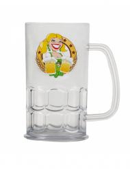 Jarra de cerveza transparente 14 cm Fiesta de la cerveza