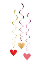 3 Decoraciones espiral love you 85 cm