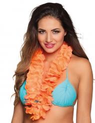 Collar Hawái naranja lujo