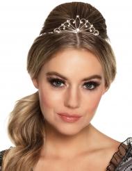 Mini corona plateada mujer