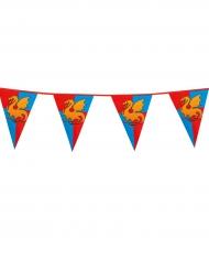 Guirnalda banderines medievales 6 m
