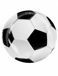 6 Platos de cartón fútbol party 23 cm