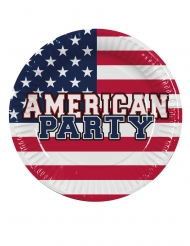 6 Platos de cartón American Party 25 cm