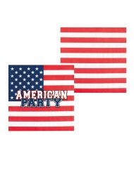 6 Vasos de cartón American party 25 cl