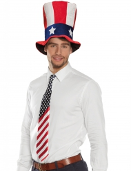 Corbata bandera americana adulto