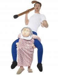 Disfraz hombre sobre abuela adulto