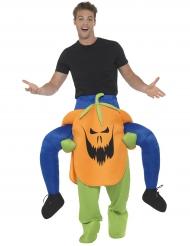 Disfraz hombre sobre calabaza aterradora adulto Halloween
