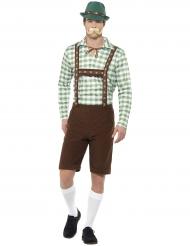 Disfraz bávaro verde y marrón adulto