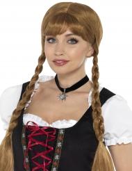 Collar corto negro bávara mujer