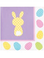 16 Servilletas de papel violetas lapins 25 x 25 cm