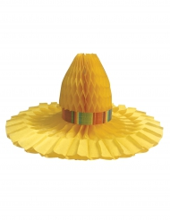 Centro de mesa sombrero de paja