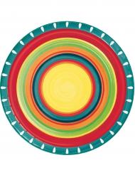 8 Platos de cartón mexicanos 22 cm