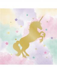 16 Servilletas de papel unicornio 33 x 33 cm