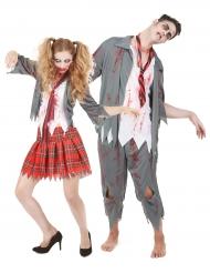Disfraz de pareja zombie terroríficos Halloween