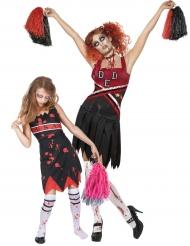 Disfraz animadora zombie mujer/niña Halloween