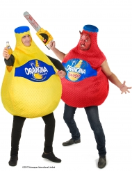 Disfraz de pareja Botellas Orangina™ Adulto