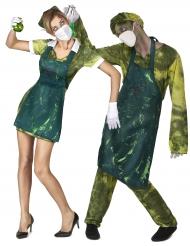 Disfraz de pareja médico radioactivo Halloween