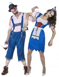 Disfraz de pareja bávaro zombie Halloween