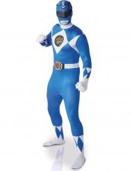 Disfraz segunda piel Power Rangers™azul para adulto