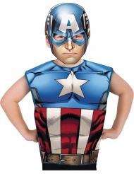 Camiseta y máscara Capitán America™ niño