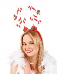 Diadema bastón navideño adulto Navidad