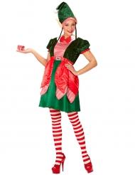 Disfraz duende asistente mujer Navidad