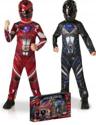 Pack Disfraz Power Rangers™ rojo y negro para niño