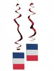 Lote de 6 decoraciones metálicas bandera Francia