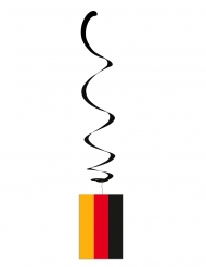 6 decoraciones metálicas en espiral colores de Alemania