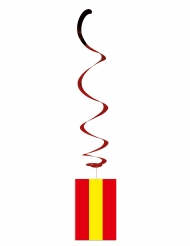 Lote de 6 decoraciones metálicas bandera España
