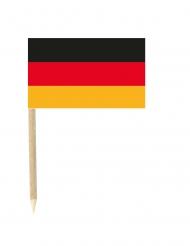 Lote de 50 mini banderas palillos Alemania 3x5 cm