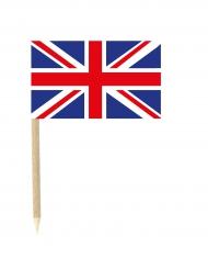 Lote de 50 mini banderas palillos Gran Bretaña