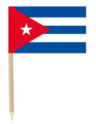 Lote de 50 mini banderas palillos Cuba