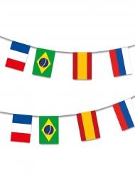Guirnalda plástico 32 Paises mundial de fútbol 13m