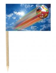 Lote de 50 mini-banderas palillos balón fugaz 3x5 cm